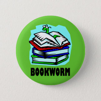 Funny Bookworm Reading Gift T-shirt Button