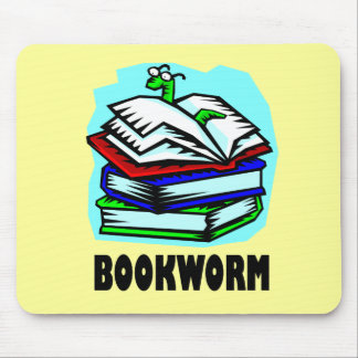 Funny Bookworm Reading Gift T-shirt Mouse Pad