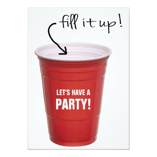 Funny Booze Cup Let's Have a Party Announcements