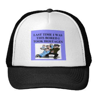 funny boredom joke trucker hat