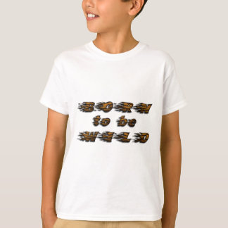 Funny Born to be Wild Tiger Wildlife Typography T-Shirt
