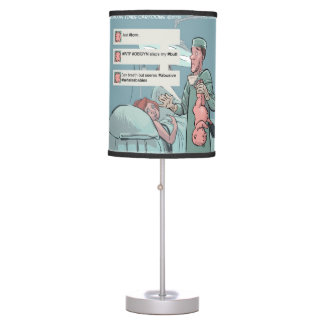 Funny Born To Tweet Table Lamp Lamp