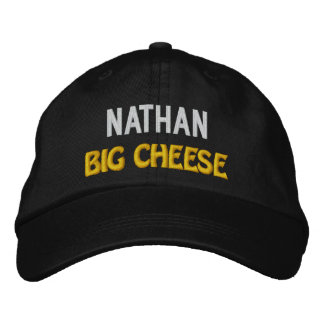 Funny BOSS Big Cheese Hat with Custom Name V21 Embroidered Baseball Cap