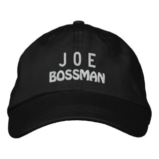 Funny BOSS Bossman Hat with Custom Name A01