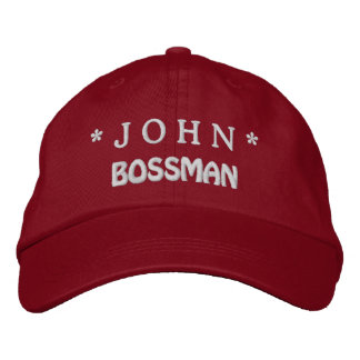 Funny BOSS Bossman Hat with Custom Name A05