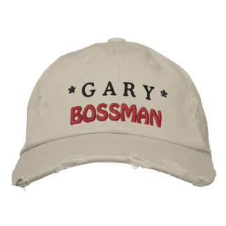 Funny BOSS Bossman Hat with Custom Name A07