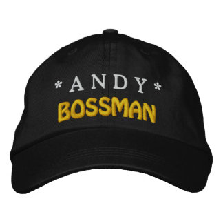 Funny BOSS Bossman Hat with Custom Name A08