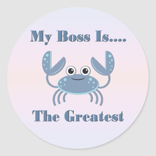 Funny Boss Gifts Round Sticker