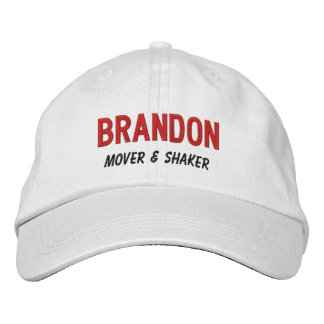 FUNNY Boss Mover and Shaker Custom Name V10 Embroidered Baseball Hat