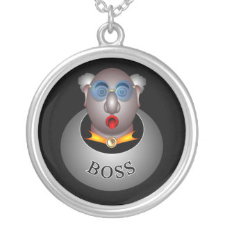 Funny boss rn by rafi talby silver plated necklace