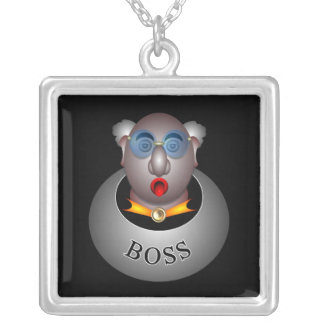 Funny boss sn by rafi talby silver plated necklace
