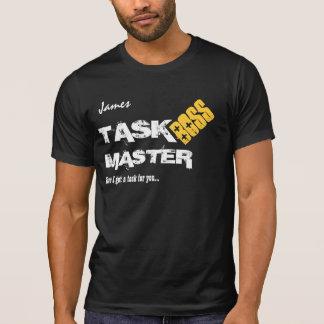 Funny Boss TASK MASTER Custom Name V06 T-Shirt