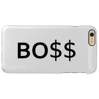 Funny BOSS Typography with dollars Incipio Feather Shine iPhone 6 Plus Case