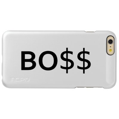 Funny BOSS Typography with dollars Incipio Feather® Shine iPhone 6 Plus Case