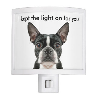 Funny Boston Terrier Night Light