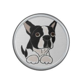 Funny Boston Terrier Puppy Dog Art Bluetooth Speaker