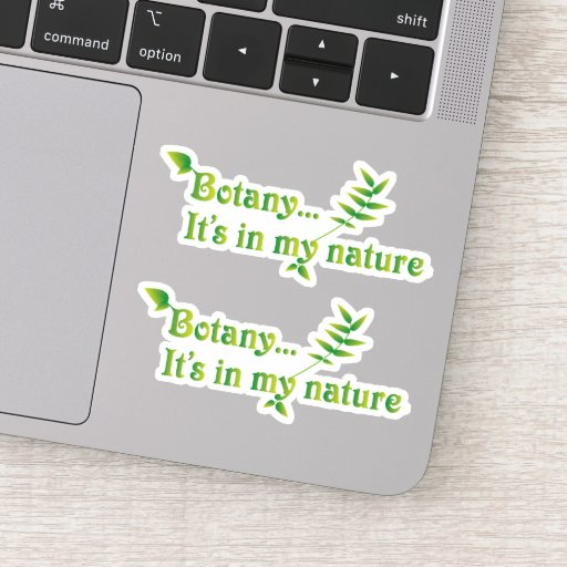 Funny Botanist Nature Set of Two Sticker