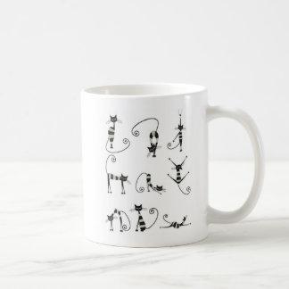 Funny both fronts French poses cats Mug