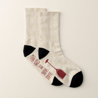 Funny Bottom If you Can Read This Bring Wine Socks