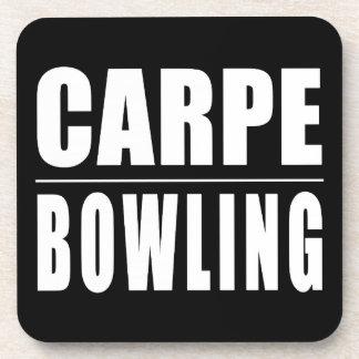 Funny Bowlers Quotes Jokes : Carpe Bowling Beverage Coaster