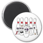 Funny Bowling 2 Inch Round Magnet