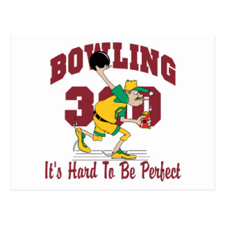 Funny Bowling 300 Postcard
