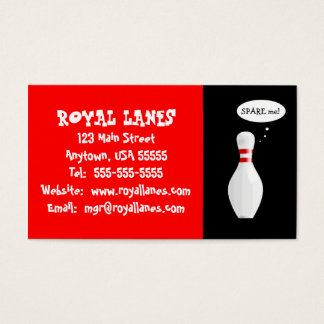 Funny Bowling Alley Business Card Template