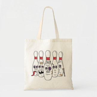 Funny Bowling Budget Tote Bag