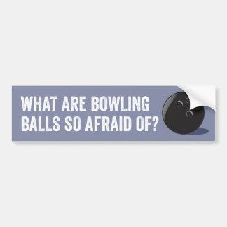Funny Bowling Ball Bumper Sticker