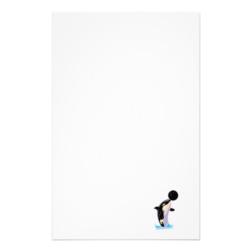 funny bowling ball orca personalized stationery