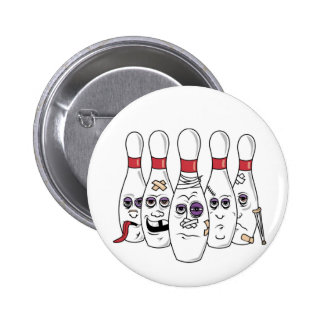 Funny Bowling 2 Inch Round Button