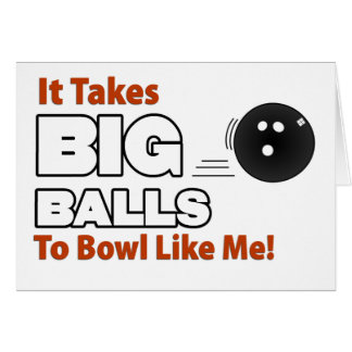 Funny Bowling Card