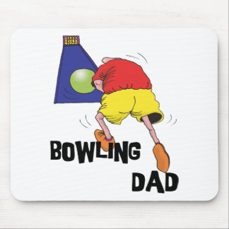 Funny Bowling Dad Father's Day Mousepads