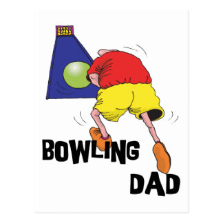 Funny Bowling Dad Father's Day Postcard