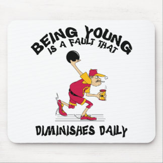 Funny Bowling Dad Father's Day T-Shirt Mousepad