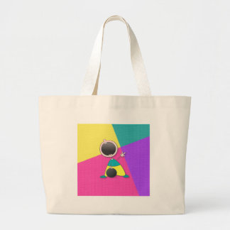 Funny Bowling | Funny Kid Bowling Large Tote Bag