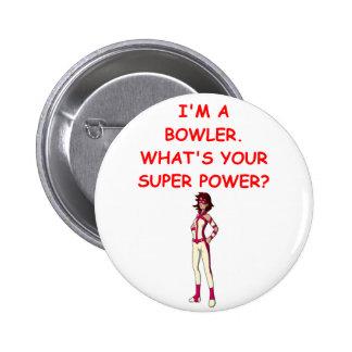 funny bowling joke button