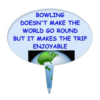 funny bowling joke cake topper