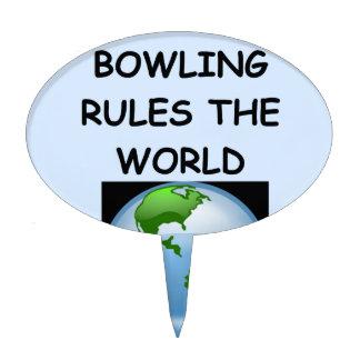 funny bowling joke cake picks