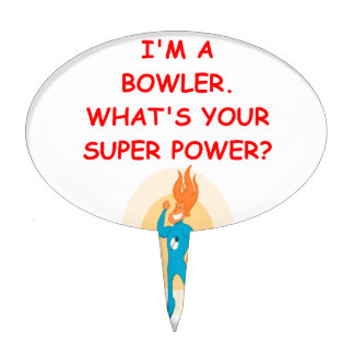 funny bowling joke cake toppers