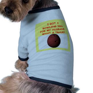 funny bowling joke doggie t-shirt