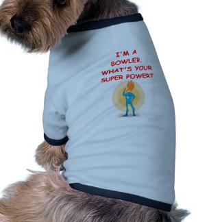 funny bowling joke doggie tshirt