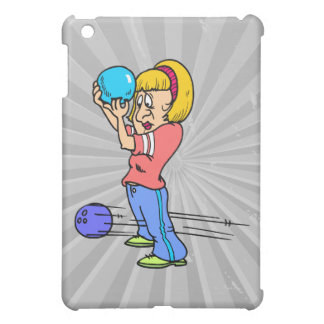 funny bowling mishap cartoon humor graphic cover for the iPad mini