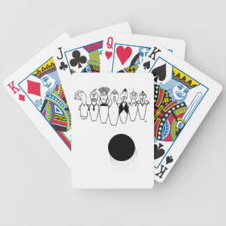 Funny bowling pin characters bicycle playing cards