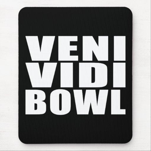 Funny Bowling Quotes Jokes : Veni Vidi Bowl Mousepad