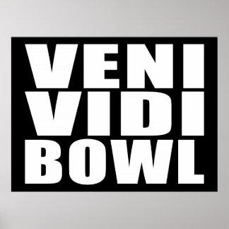 Funny Bowling Quotes Jokes : Veni Vidi Bowl Poster
