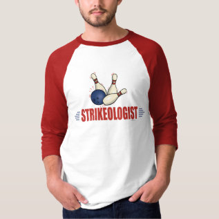 Funny Bowling T-shirt at Zazzle