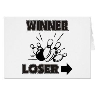 Funny Bowling Winner Loser Card