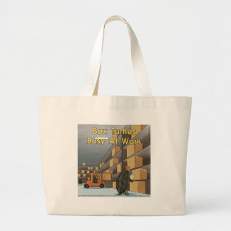 Funny Box Turtles At Work Canvas Bags