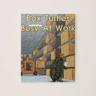 Funny Box Turtles At Work Jigsaw Puzzle